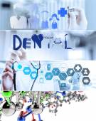 Collage of Various modern medical concept  — Stockfoto