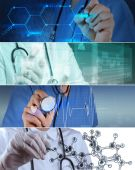 Collage of Various modern medical concept — Stock Photo