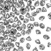 3d na composição como conceito de diamantes — Fotografia Stock