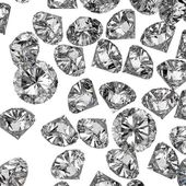 Diamonds 3d in composition as concept — 图库照片