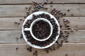 Coffee cup set with seeds — Stockfoto