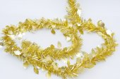 Chirstmas  golden ribbon for celebration and festival. — Stock Photo