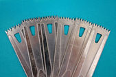 Surgery oscillating saw blades — Stock Photo
