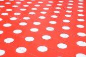 White spots on red floor — Zdjęcie stockowe