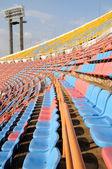 Seat grandstand in stadium — Stock Photo