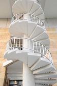 White winder stairs — Stock Photo
