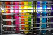Silk color dyeing machine — Stock Photo
