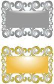 Stříbrné a zlaté rámečky — Stock fotografie