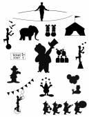 Circus silhouettes — Stock Vector