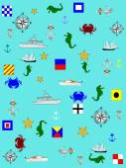 Nautical background — Stock Vector