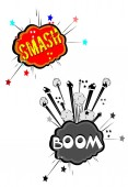 Smash boom bahhhhhhhh — Stock Photo