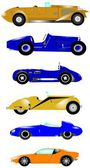 Vintage sports car collection — Stock Photo