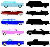 Vintage arabalar koleksiyonu — Stok fotoğraf