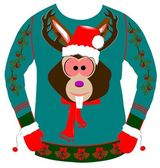 Ugly christmas sweater — Photo