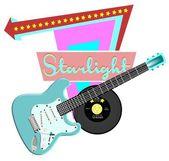Starlight retro background — Stock Photo