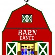 Barn dance with dancers — Stock Photo #68470479
