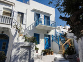 Traditional greek house on Mykonos island, Greece — Stock Photo