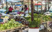 Asian street market — Stock Photo