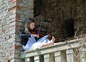 Küçük violinis — Stok fotoğraf