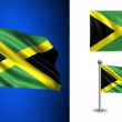 Jamaica flag - with Alpha channel, seamless loop! — Stock Video #70678889