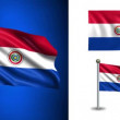 Paraguay flag - with Alpha channel, seamless loop! — Stock Video #70681571