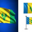 Saint Vincent and the Grenadines flag - with Alpha channel, seamless loop! — Stock Video #70682155