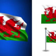 Wales flag - with Alpha channel, seamless loop! — Stock Video #70684053