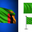 Zambia flag - with Alpha channel, seamless loop! — Stock Video #70684069