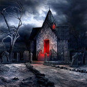 Old gothic crypt — Stock Photo