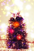 Vibrant christmas tree  — Stock Photo