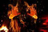 Person on fire — Stock Photo