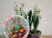 Декоративный орнамент Пасхи с гиацинты — Стоковое фото