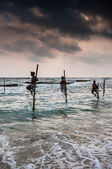 Fishermen in Sri Lanla — Stock Photo