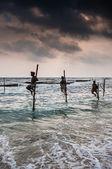 Fishermen in Sri Lanla — Stock Photo