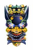 Chinese deity mask — Stock Photo