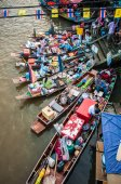 Amphawa floating market — Stock Photo