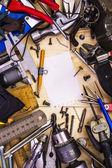 Frame of plumbing tools — Stock Photo