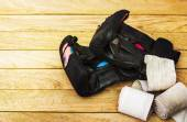 Sports equipment for martial arts — Stock Photo