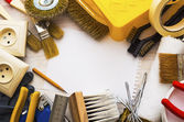 Frame of tools for home repairs — Stock Photo