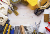 Frame of tools for repairing — Stock Photo