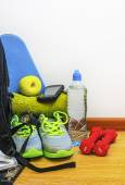 Accessories for fitness and sport — Stock Photo