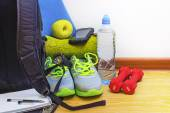 Accessories for fitness — Stock Photo