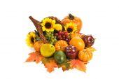 Autumn Or Fall Cornucopia — Stock Photo