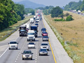 Hot Summer Day On The Interstate — Stock Photo