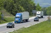 Scenic View While Traveling On Highway — Stock Photo