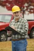 Construction Foreman On Site — Zdjęcie stockowe