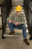 Construction Worker Looking For Work — Stockfoto