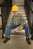 Nobody Is Hiring A Construction Worker — Stock Photo