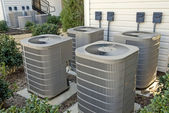Air Conditioning Units At Complex — Stock Photo