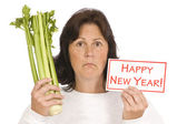 Woman Getting A Start On The New Year's Resolution — Stock Photo